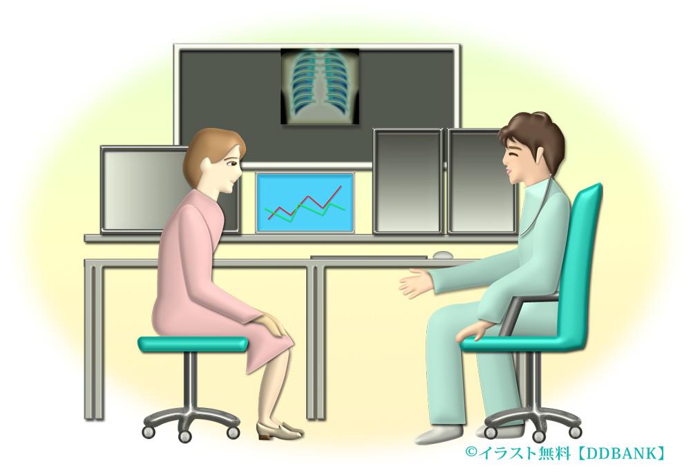 医師が女性患者を診察するラスト