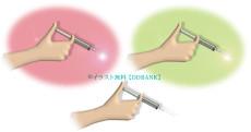 注射する手のイラスト
