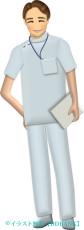 若い男性看護師のイラスト