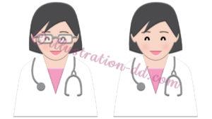 簡単シンプルな女医さんのイラスト