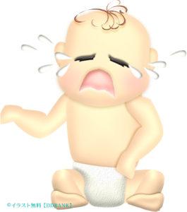 泣いている赤ちゃんのイラスト