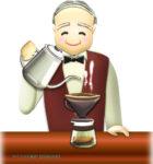 喫茶店の老マスターのイラスト