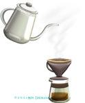 ドリップコーヒーのイラスト