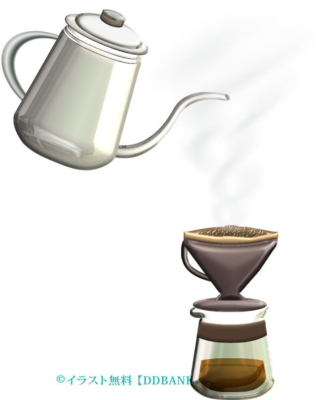 ドリップコーヒー イラストが無料のddばんく