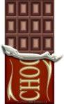 板チョコの包み紙を半分破ったイラスト