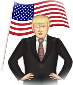 トランプ大統領のイメージ素材(1)のイラスト