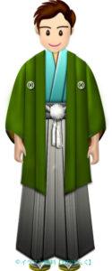 羽織と袴を着た新成人のイラスト