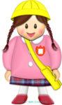 幼稚園児・保育園児(女の子)の通園スタイルのイラスト