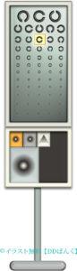 電光式の視力検査機器のイラスト