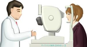眼底検査のイラスト