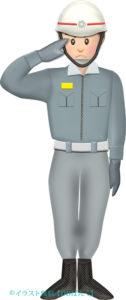 ヘルメットの救急救命士(救急隊員)のイラスト
