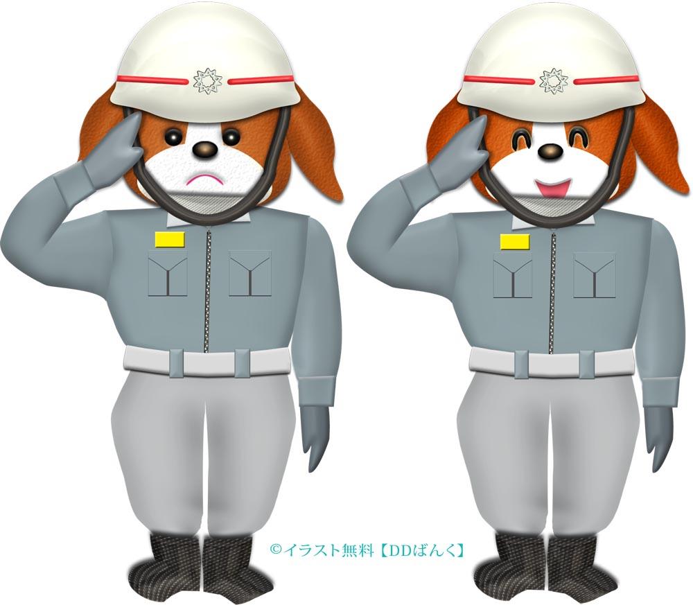 救急救命士(救急隊員)ワンコのイラスト