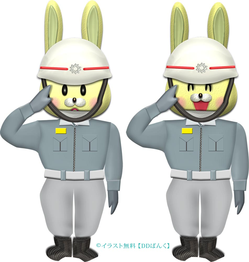 ウサギの救急救命士(救急隊員)のイラスト
