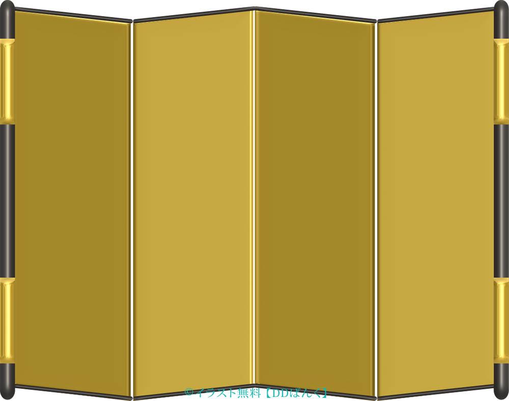 金屏風のイラスト