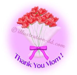 花束「Thank You Mom!」|母の日のイラスト