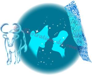 織姫彦星のシルエットのイラスト