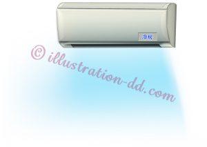 エアコンの風・冷房のイラスト