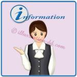 nformationロゴと受付女性のイラスト