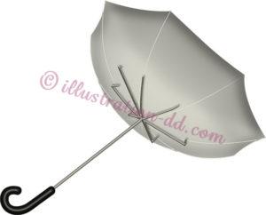 裏返しになった傘のイラスト