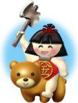 金太郎とクマのイラスト