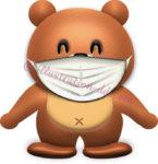 マスクをしたクマのイラスト