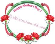 カーネーションの飾り枠1|母の日のイラスト