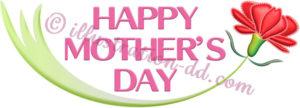 カーネーションのメッセージ・ロゴ1|母の日のイラスト