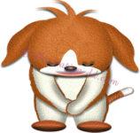 お辞儀するビーグル犬のイラスト