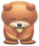お辞儀するクマのイラスト
