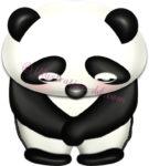 お辞儀するパンダのイラスト