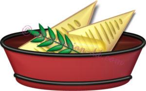 竹の子の酢味噌和えのイラスト
