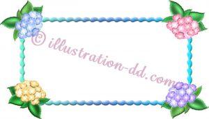 紫陽花(あじさい)フレーム(サイズ小)のイラスト