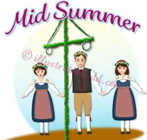 夏至祭(ミッドサマー)のイラスト