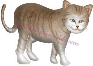 リアル系の猫のイラスト