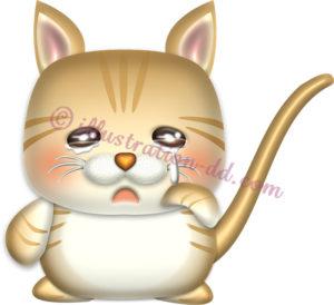 泣いてる子猫マンチカンのイラスト
