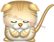 お辞儀する子猫マンチカンのイラスト