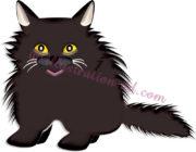 ペルシャ猫・黒のイラスト
