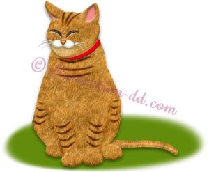 吊り目の猫のイラスト