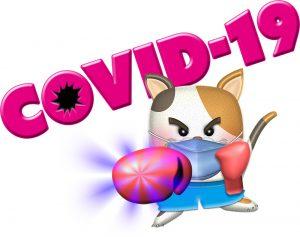 Clip art of boxer cat|covid-19