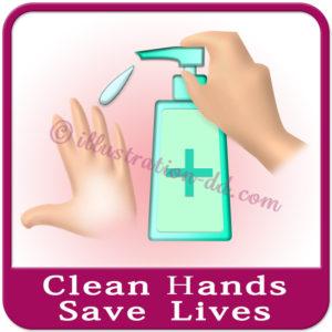 「Clean Hands Save Lives」image