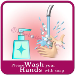 「Please Wash your Hands with soap」image