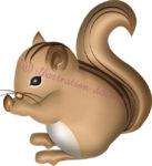栗鼠(りす)横向きのイラスト