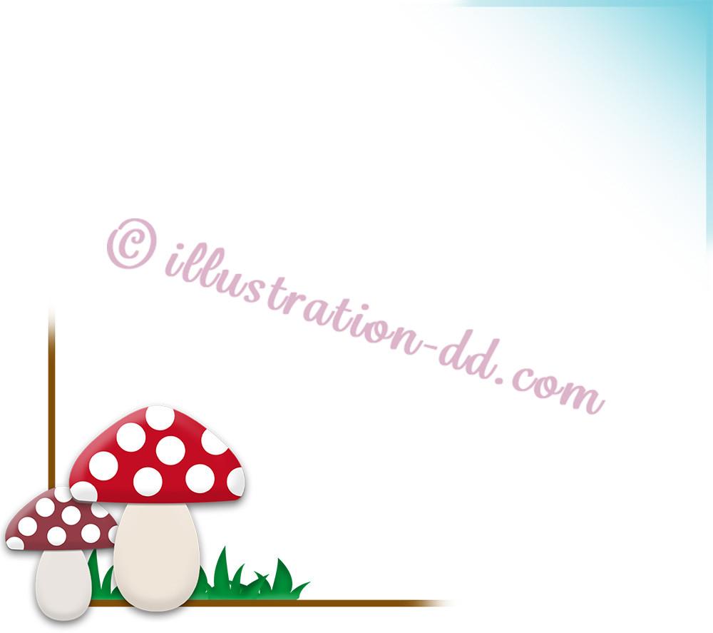 キノコの飾り枠1