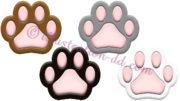 猫の肉球・4色セットのイラスト