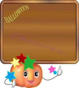 ハロウィンのかぼちゃボード