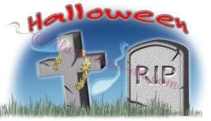 ハロウィンのお墓(RIP)のイラスト