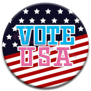 [VOTE USA]badge:Free illustration