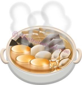 おでんの鍋のイラスト