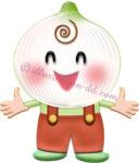 玉ねぎのキャラクター・男の子のイラスト