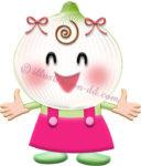 玉ねぎのキャラクター・女の子のイラスト